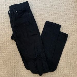 Black Carmar ripped skinny jeans